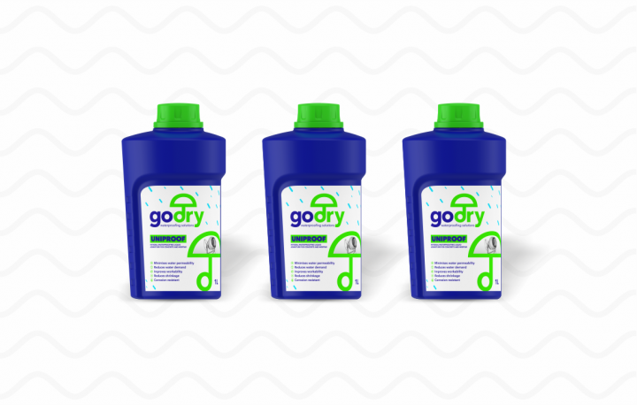 Introducing GODRY UNIPROOF Integral Waterproofing Liquid