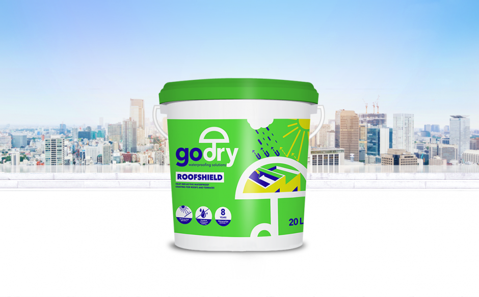 Introducing GODRY ROOFSHIELD – a heat reflective waterproof coating!